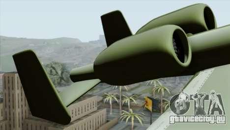 A-10 Warthog Shark Attack для GTA San Andreas вид сзади слева