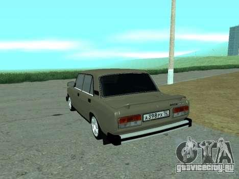 ВАЗ 2105 Жигули для GTA San Andreas вид сзади слева