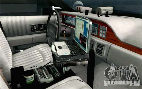 Chevy Caprice SAHP SAPD Highway Patrol v1 для GTA San Andreas вид справа
