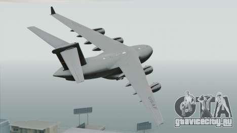 C-17A Globemaster III USAF March для GTA San Andreas вид слева