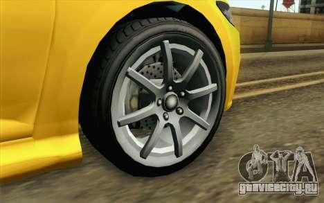 GTA V Dinka Blista IVF для GTA San Andreas вид сзади слева