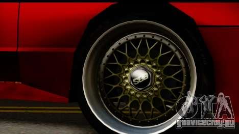 Elegy V1 для GTA San Andreas вид сзади