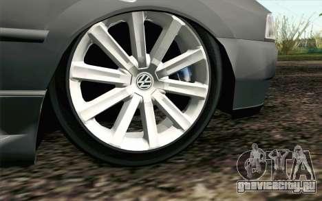 Volkswagen Golf GL для GTA San Andreas вид сзади слева