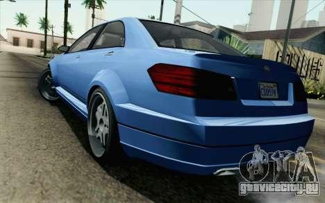 GTA 5 Benefactor Schafter для GTA San Andreas вид слева