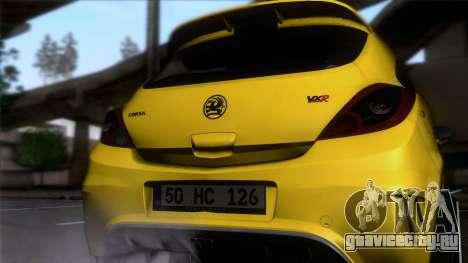 Opel Corsa OPC для GTA San Andreas вид сзади