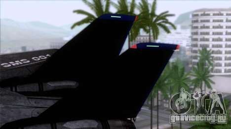 F-14 Neon Blue Macross Frontier для GTA San Andreas вид сзади слева