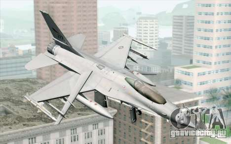 F-16 Fighting Falcon RNoAF PJ для GTA San Andreas