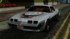 Pontiac Trans AM Interior для GTA San Andreas