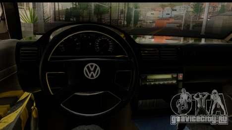 Volkswagen Passat B5 для GTA San Andreas вид изнутри