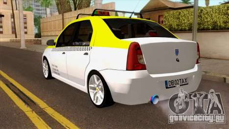 Dacia Logan Taxi для GTA San Andreas вид слева