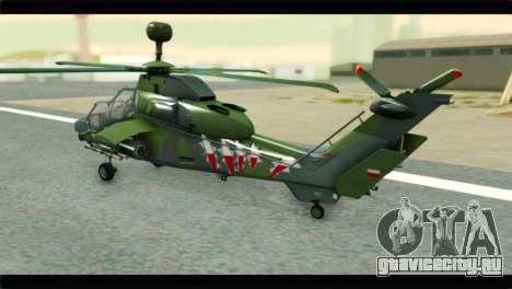 Eurocopter Tiger Polish Air Force для GTA San Andreas вид слева