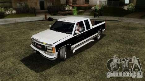GMC Sierra 2500 1992 Extended Cab Final для GTA San Andreas вид сзади