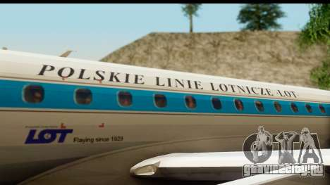 Embraer 175 PLL LOT Retro для GTA San Andreas вид изнутри
