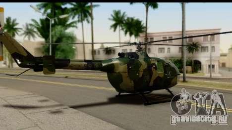 MBB Bo-105 Army для GTA San Andreas вид слева