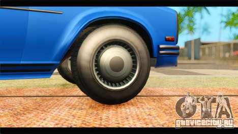 GTA 5 Benefactor Glendale Special для GTA San Andreas вид сзади слева