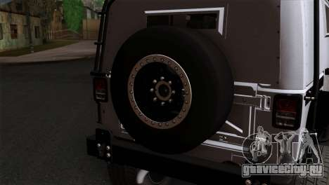 Jeep Wrangler 2013 Fast & Furious Edition для GTA San Andreas вид сзади