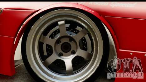 Nissan Silvia S13 Rocket Bunny для GTA San Andreas вид сзади