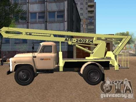 ГАЗ 52 Автогидроподъемник для GTA San Andreas вид слева