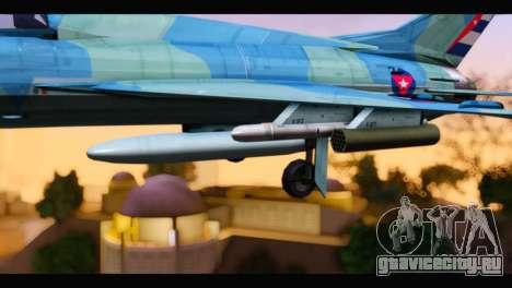 MIG-21MF Cuban Revolutionary Air Force для GTA San Andreas вид справа
