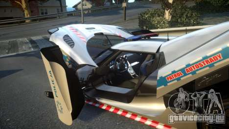 Koenigsegg Agera Polish Highway Patrol Police для GTA 4 вид сверху