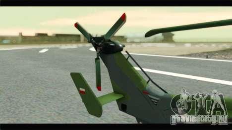 Eurocopter Tiger Polish Air Force для GTA San Andreas вид сзади слева