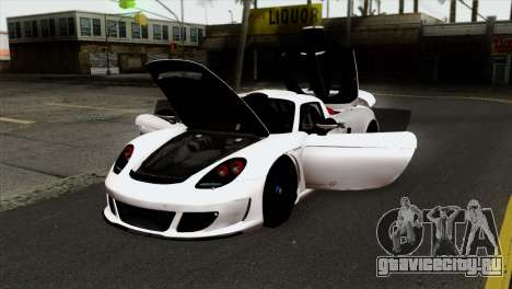 Gemballa Mirage GT v2 Windows Up для GTA San Andreas вид сзади
