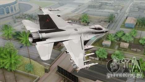 F-16C Jastrzab для GTA San Andreas вид слева
