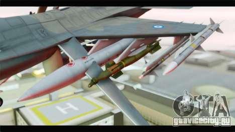 F-16C Hellenic Air Force для GTA San Andreas вид справа