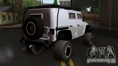 Jeep Wrangler 2013 Fast & Furious Edition для GTA San Andreas вид слева