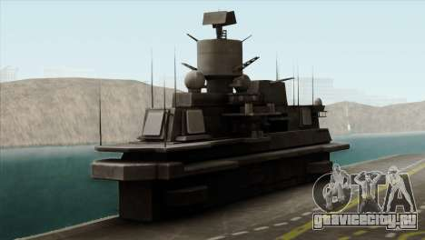 Admiral Kuznetsov Class для GTA San Andreas вид сзади
