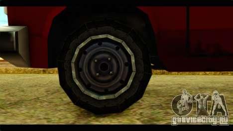 Bobcat Technical Pickup для GTA San Andreas вид сзади слева