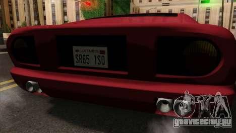 Bullet PFR v1.0 для GTA San Andreas вид сзади