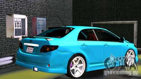 Toyota Corolla Altis для GTA San Andreas вид сбоку