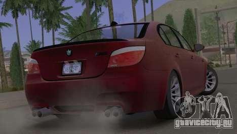 BMW M5 E60 2009 Stock для GTA San Andreas вид слева