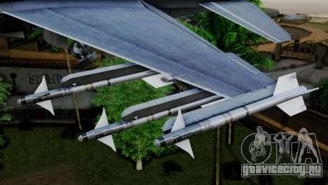 EMB F-16F Fighting Falcon US Air Force для GTA San Andreas вид справа