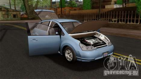 GTA 5 Karin Dilettante SA Mobile для GTA San Andreas вид сзади