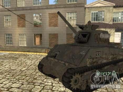Танк M4 Sherman для GTA San Andreas