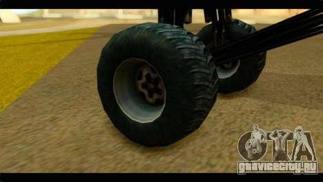 Monster Regina для GTA San Andreas вид сзади слева