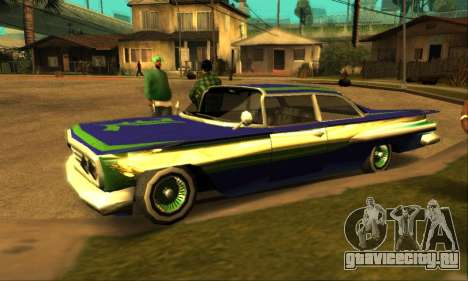 Luni Voodoo для GTA San Andreas вид сбоку