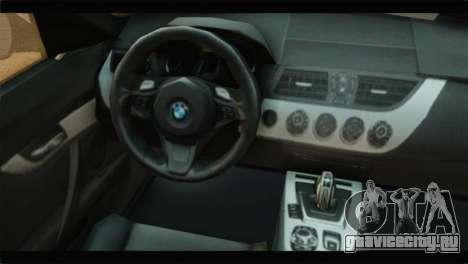 BMW Z4 sDrive35is 2011 для GTA San Andreas вид справа