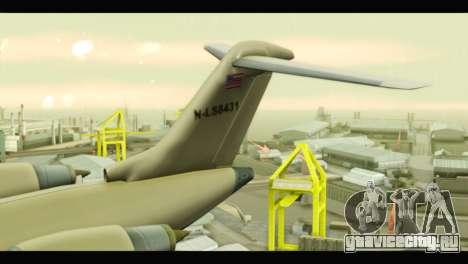 GTA 5 Buckingham Miljet Update для GTA San Andreas вид сзади слева