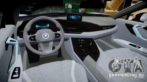 BMW i8 2013 для GTA 4 вид изнутри