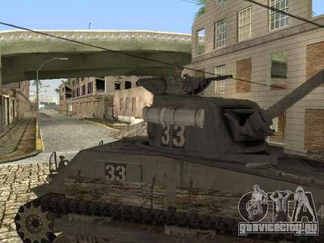 Танк M4 Sherman для GTA San Andreas вид слева
