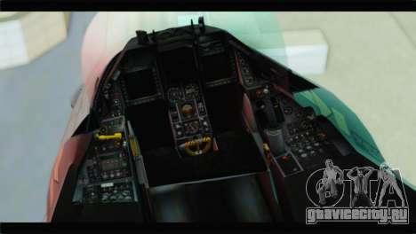 F-16C Hellenic Air Force для GTA San Andreas вид сзади