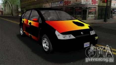 GTA 5 Karin Dilettante для GTA San Andreas вид сзади
