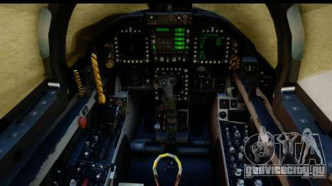 FA-18D VFA-103 Jolly Rogers для GTA San Andreas вид сзади