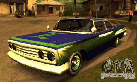 Luni Voodoo для GTA San Andreas вид сзади слева