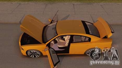 Dodge Charger SRT8 2012 Stock Version для GTA San Andreas вид изнутри