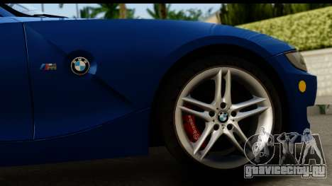 BMW Z4M Coupe 2008 для GTA San Andreas вид сзади