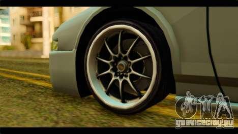 Infernus Rapide S для GTA San Andreas вид сзади слева
